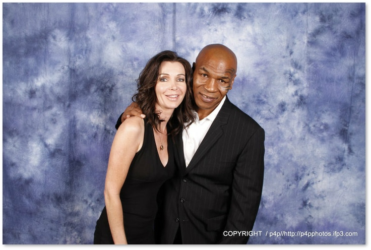Yvette with Mike Tyson